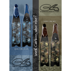 C4 - Indian Camo Ocean Fins Blades Only (Pair)